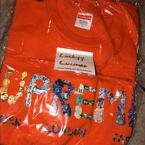 Supreme Rocks tee in orange